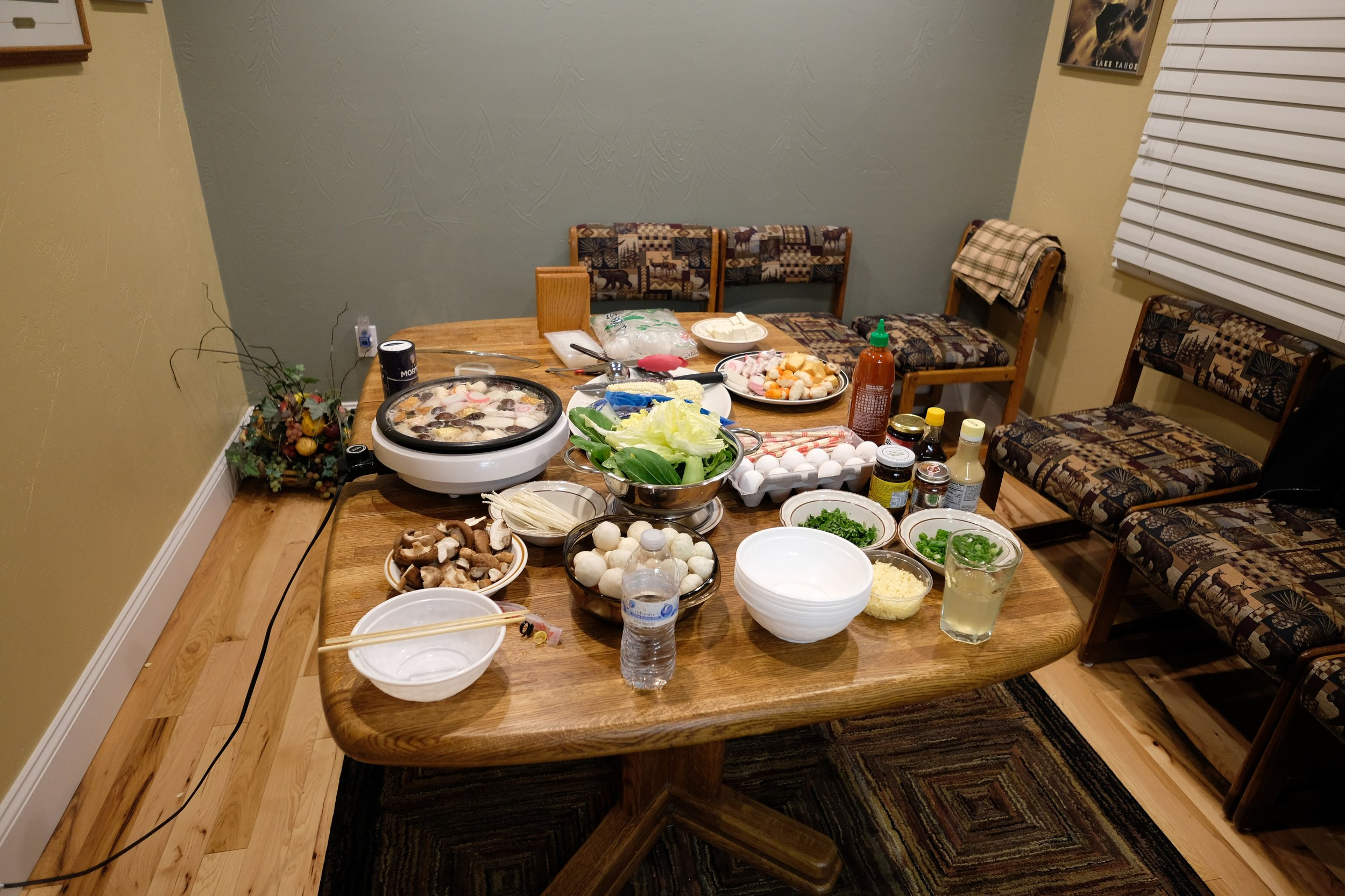 The veggies table