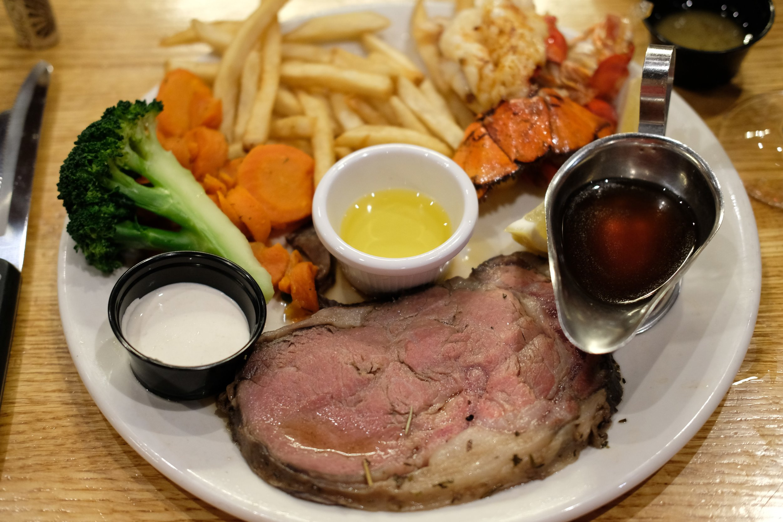 Prime rib & lobster $20 meal (also came with a salad or soup)