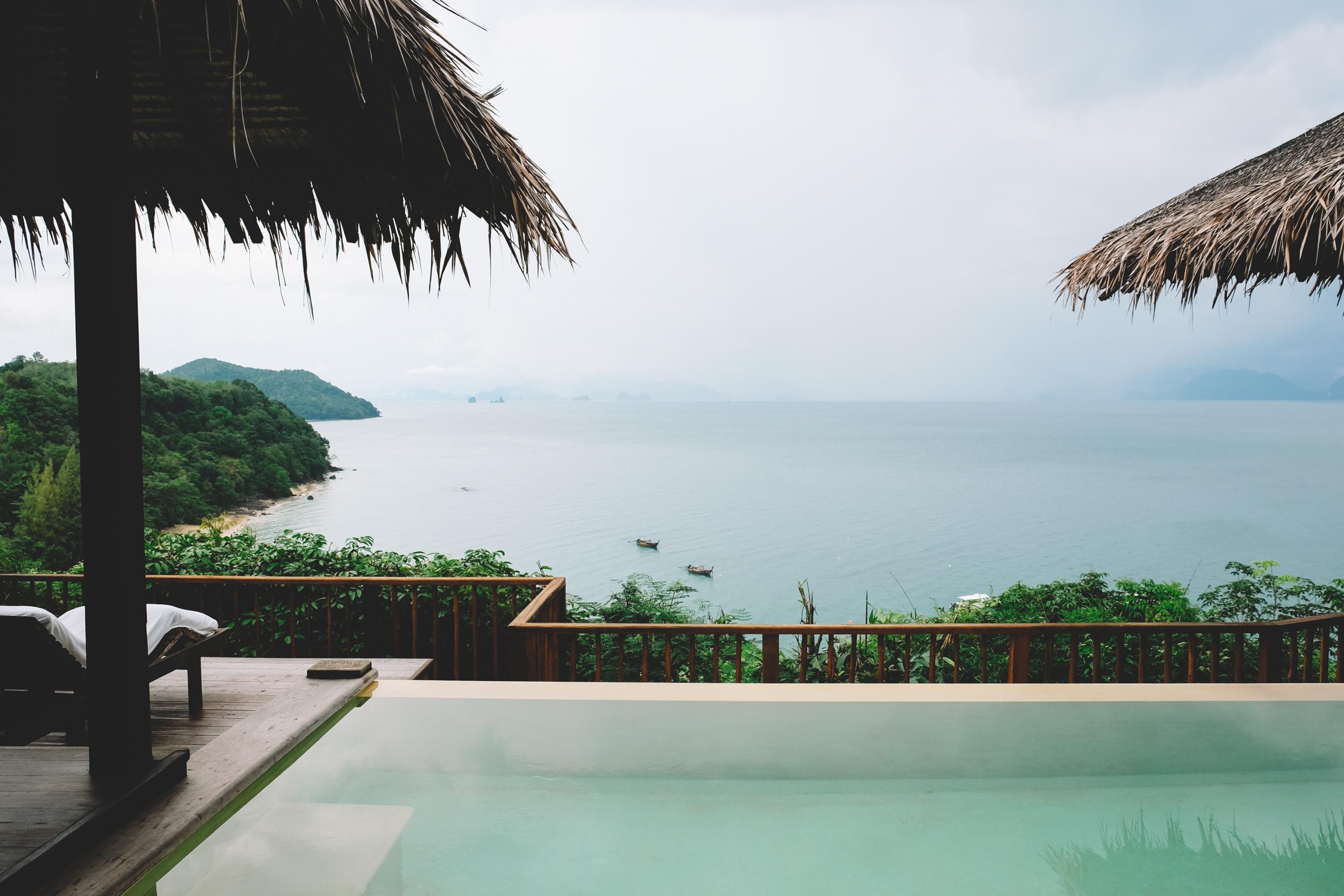 Our very own pool looking over Phang Nga Bay!
