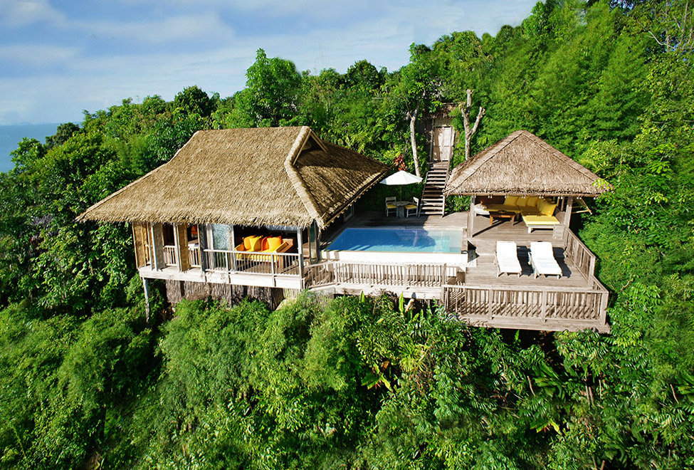 An aerial view of our villa! Picture:  Six Senses