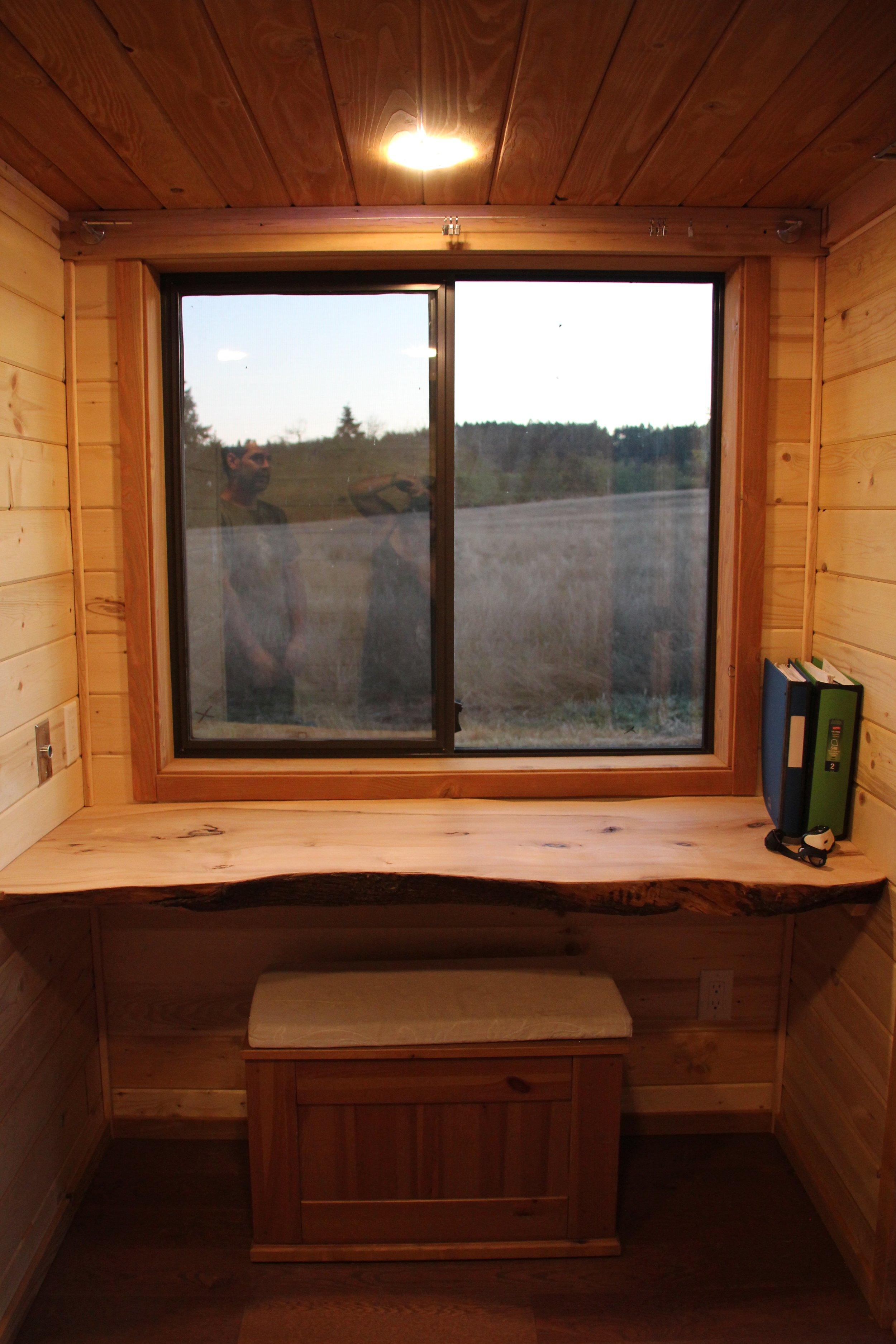 The live edge White Oak office desk.