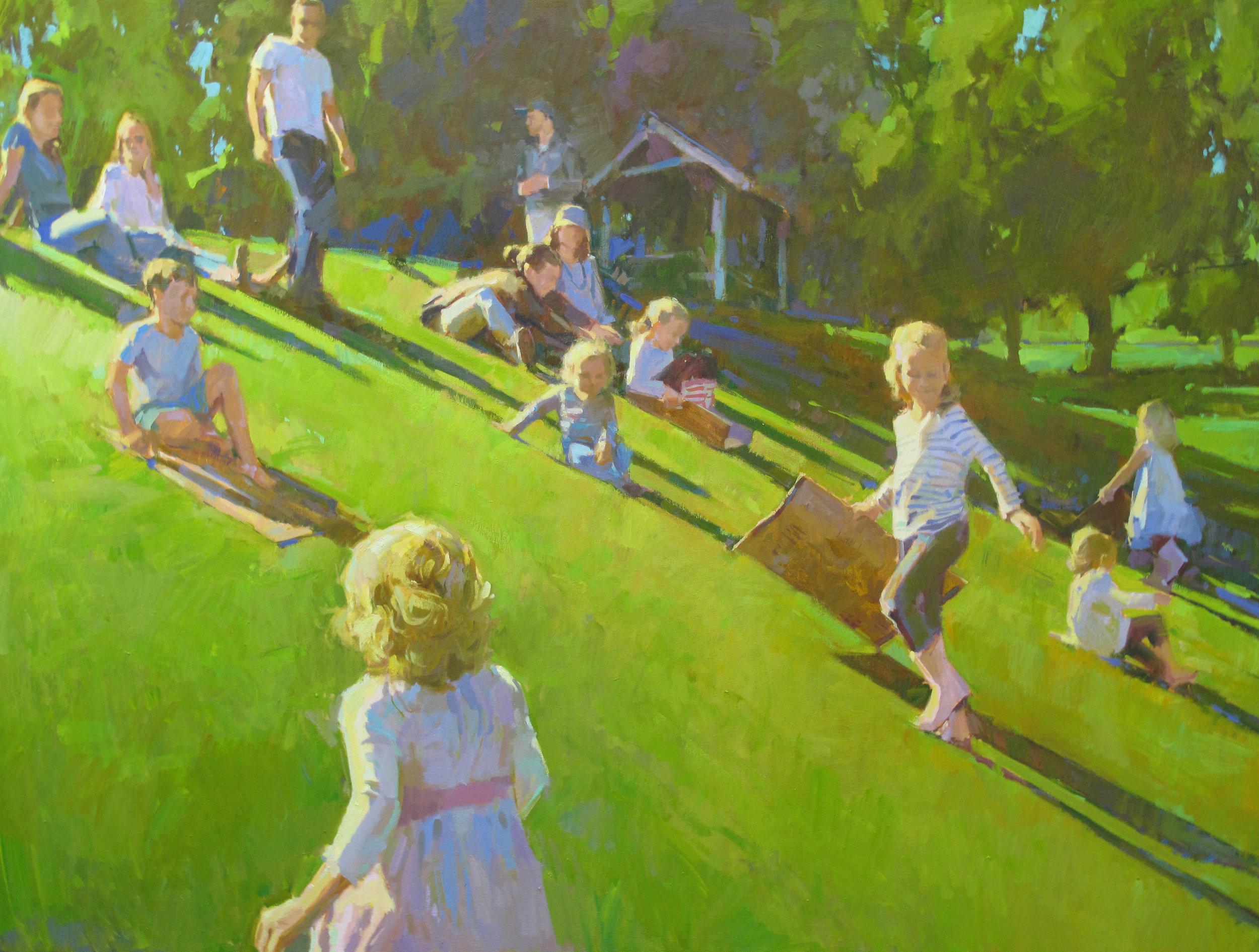 "Hillslide  36x48"" oil on canvas"