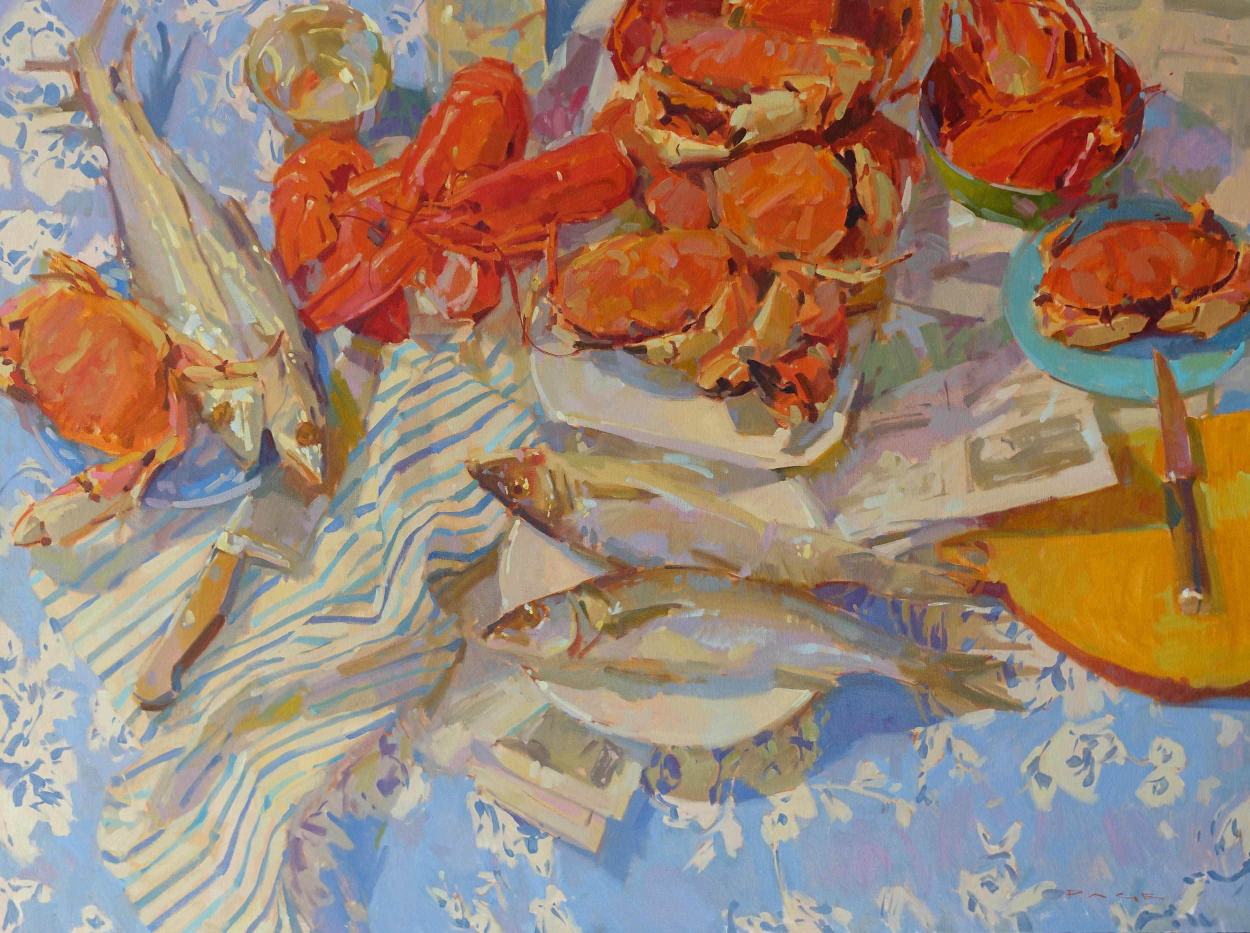 "Seafood Bounty  36x48"" oil on canvas"