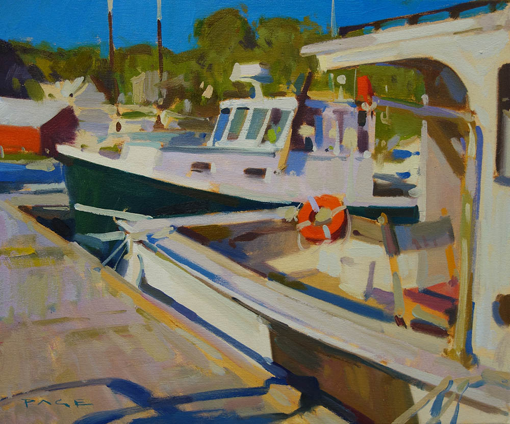 "Commercial Dock  16x20"" oil on canvas"