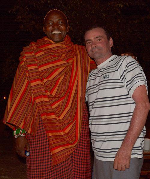 At Daryl Balfour's camp, Maasai Mara