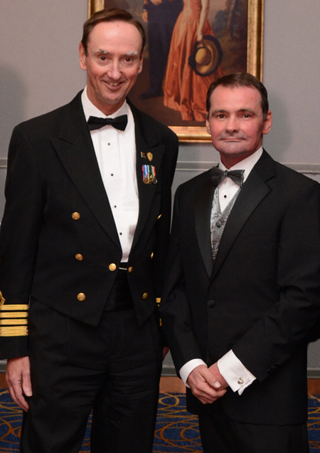 Me with Captain Christopher Wells. Thank you for the invitation, Captain