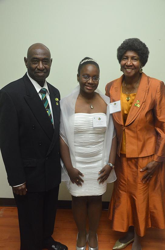 Gifford & Raphaelita Walker with JCA scholarship winner Shalon Hunte