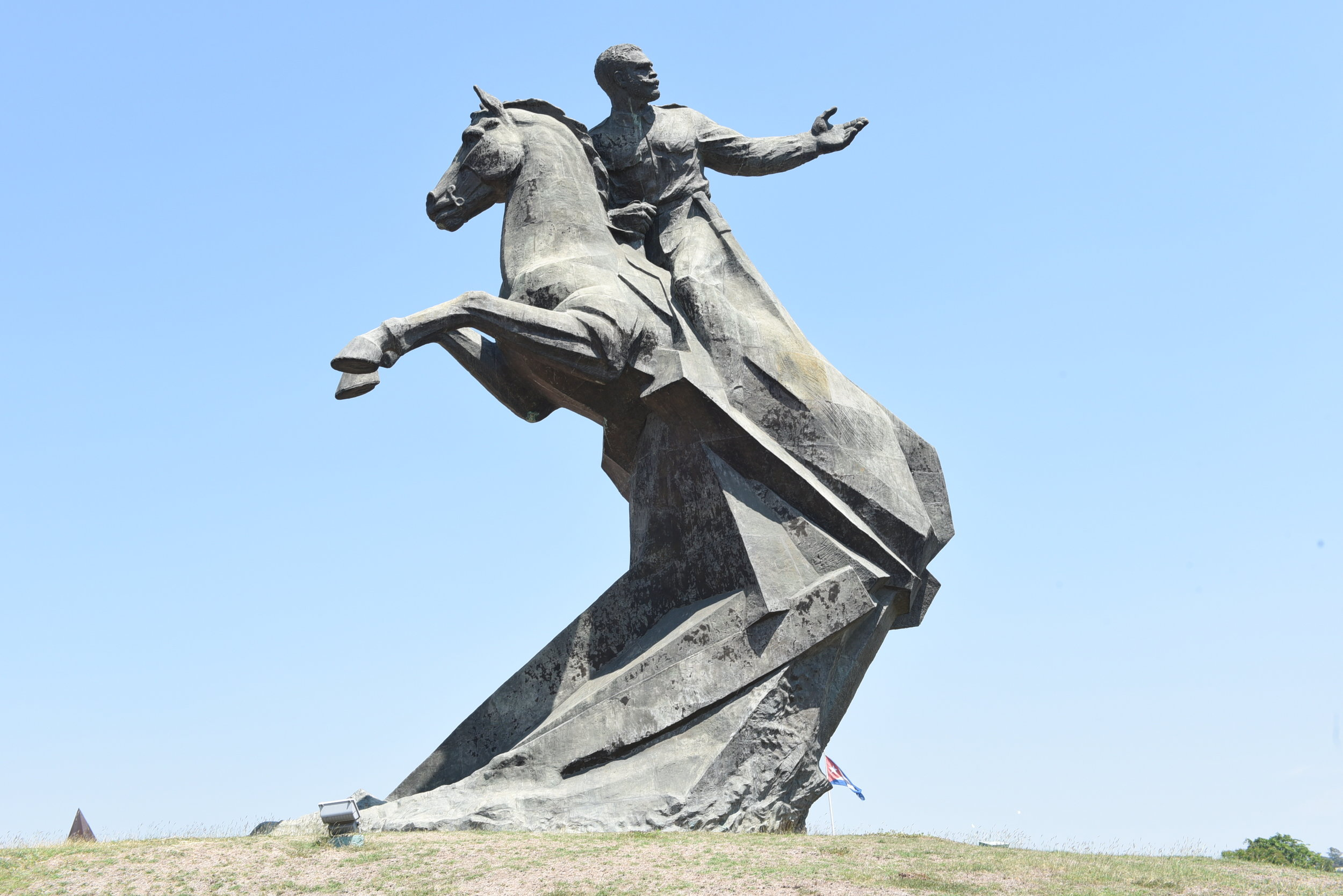 The sculpture of Antonio Maceo on horseback