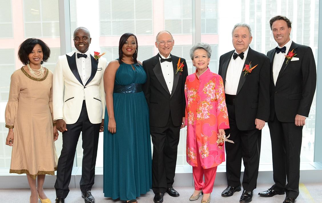 Dr. Shirley Thompson, Wes Hall, Sathara Hendricks, Dr. Paul Steinbok, Vivienne Poy, Robin Mahfood & Stephen Ames