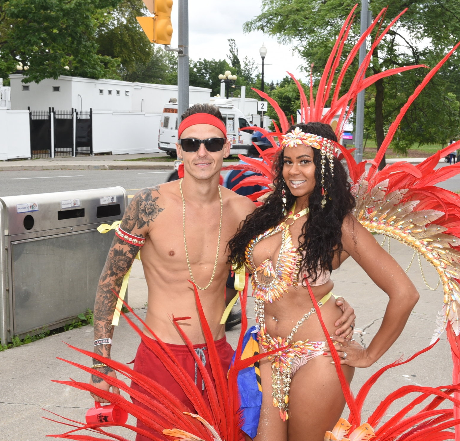Husband and wife Spencer and Cherie Smith of Venom Carnival
