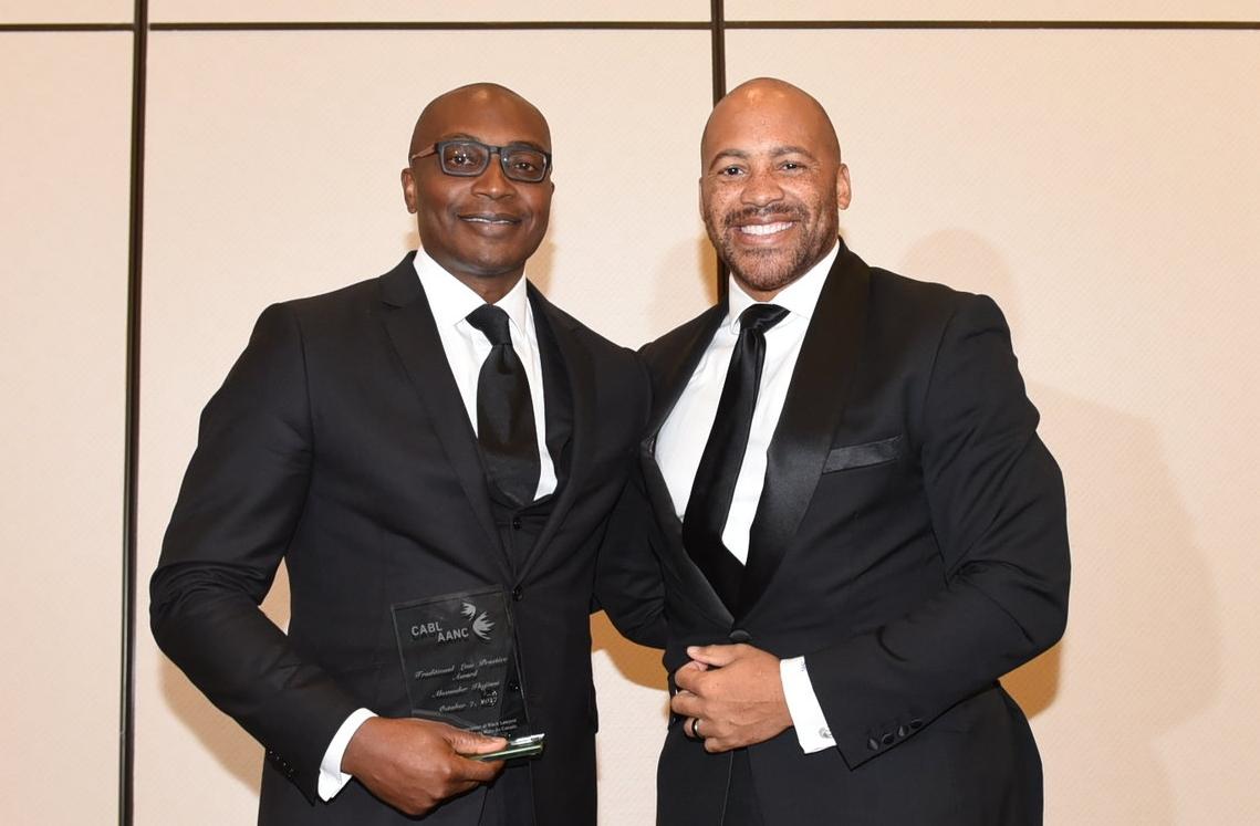 CABL president Shawn Richard presented the Traditional Law Practice Award to Alex Ikejiani
