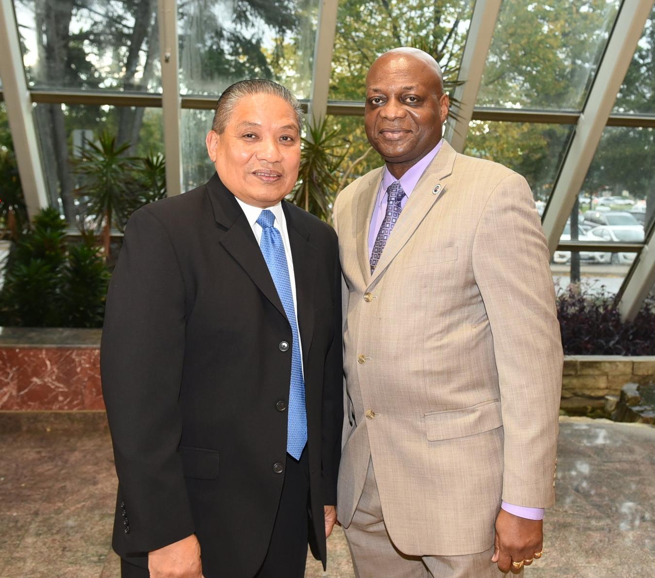 John Marshall (l) and ABLE president Kenton Chance