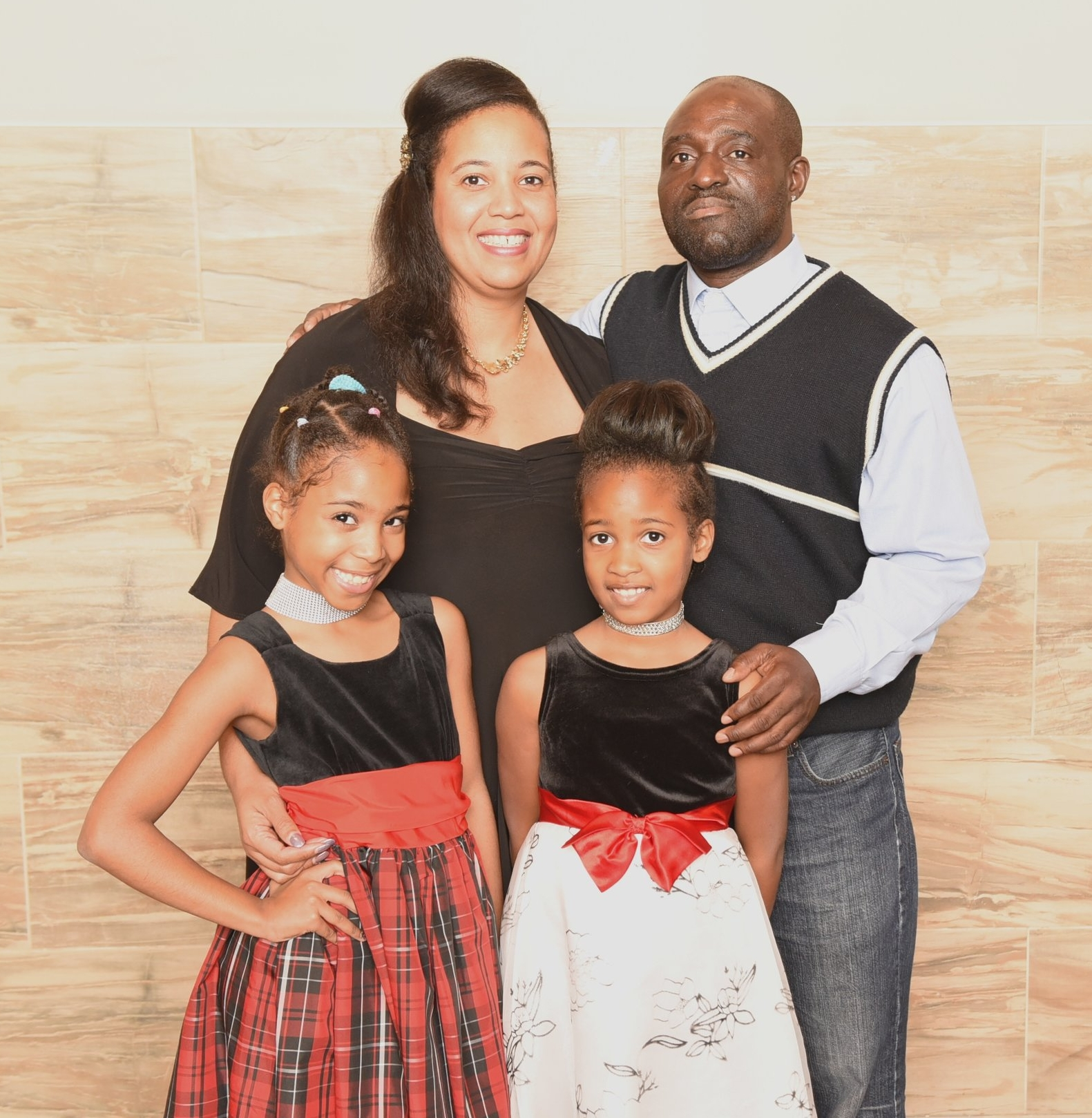 George Ofori and Johanne Konan with their kids Elisa and Ines