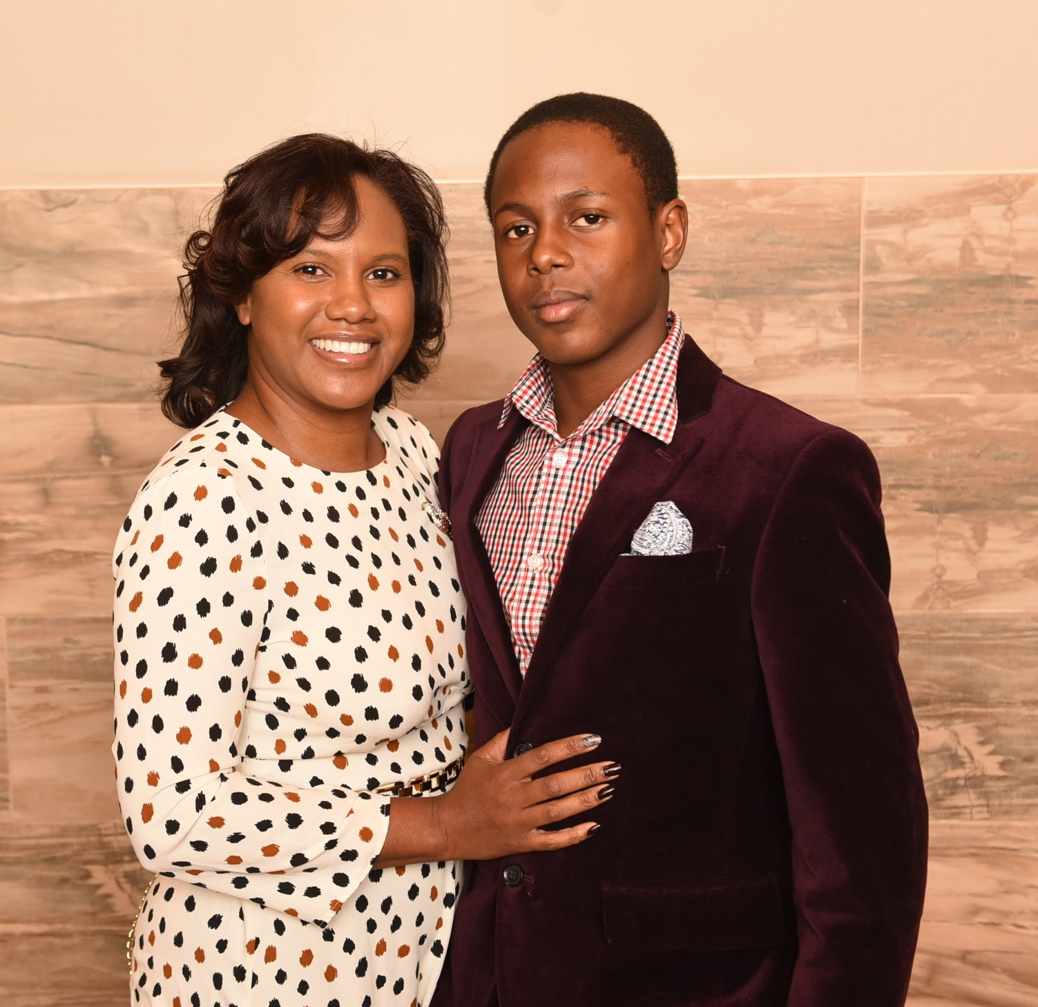 Asaiah Edwards and his mom Kai Gordon