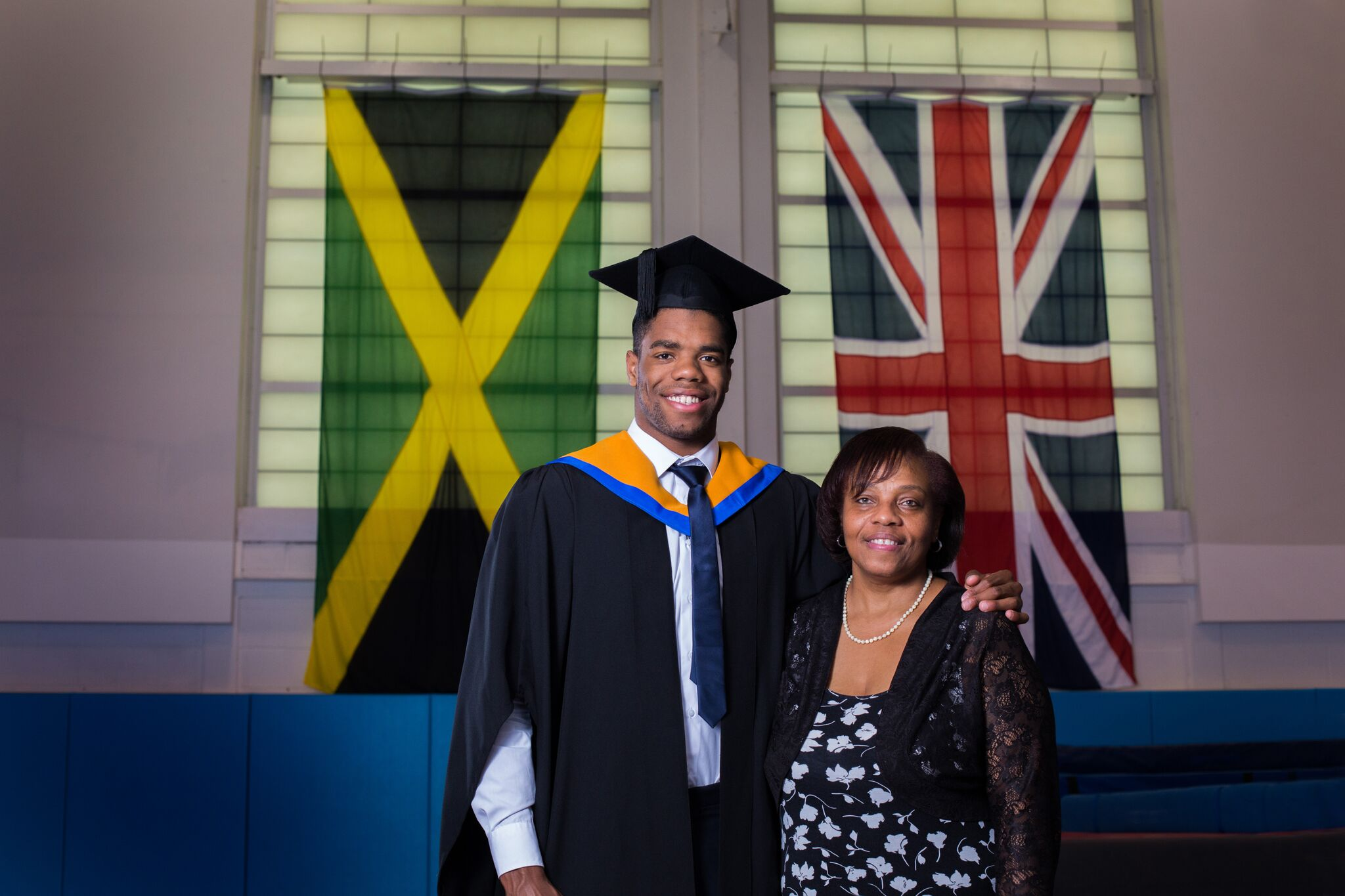 Yona Knight-Wisdom and his mom Grace Knight