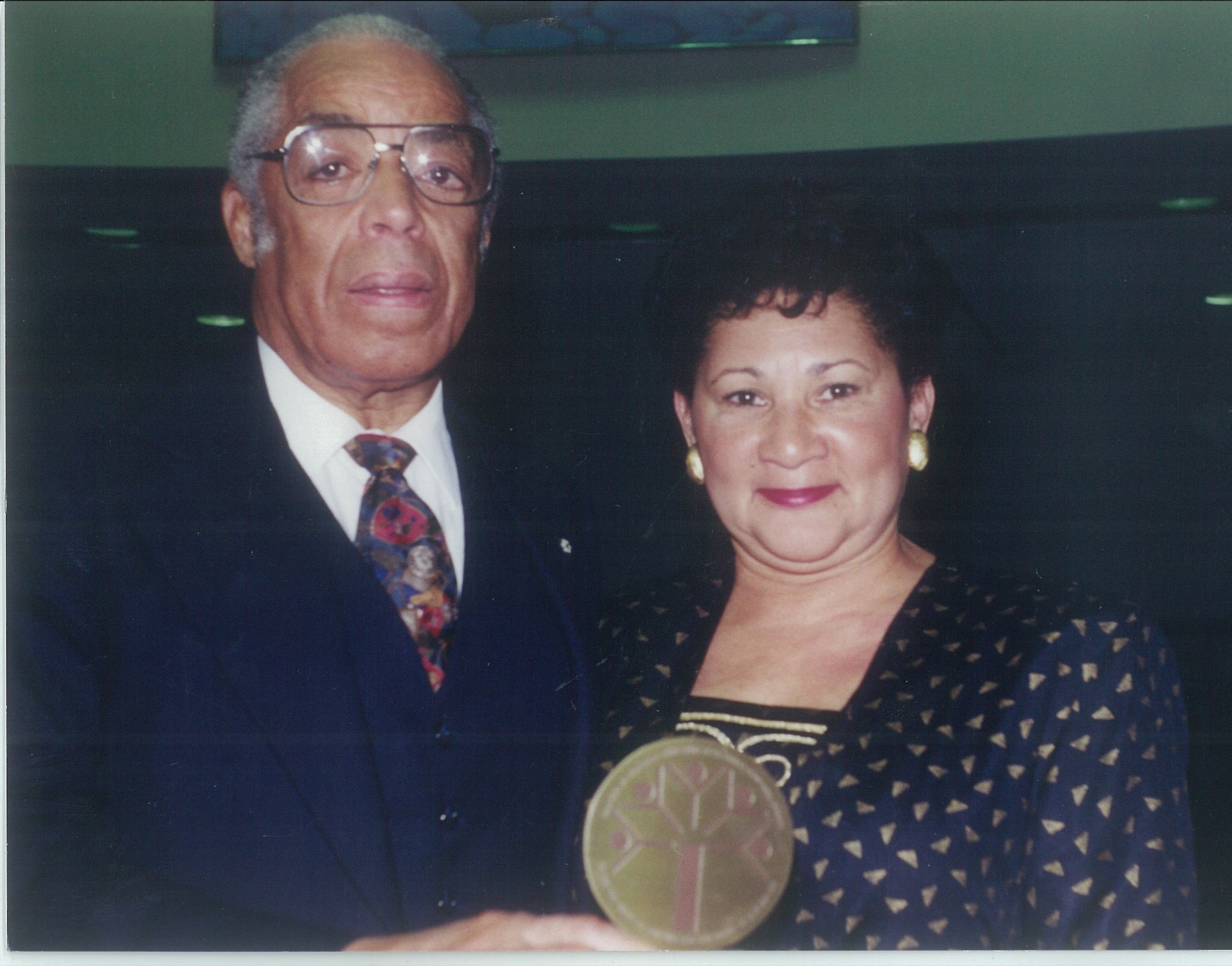 Bromley Armstrong & his wife Marlene with the Baha'i National Race Unity Award