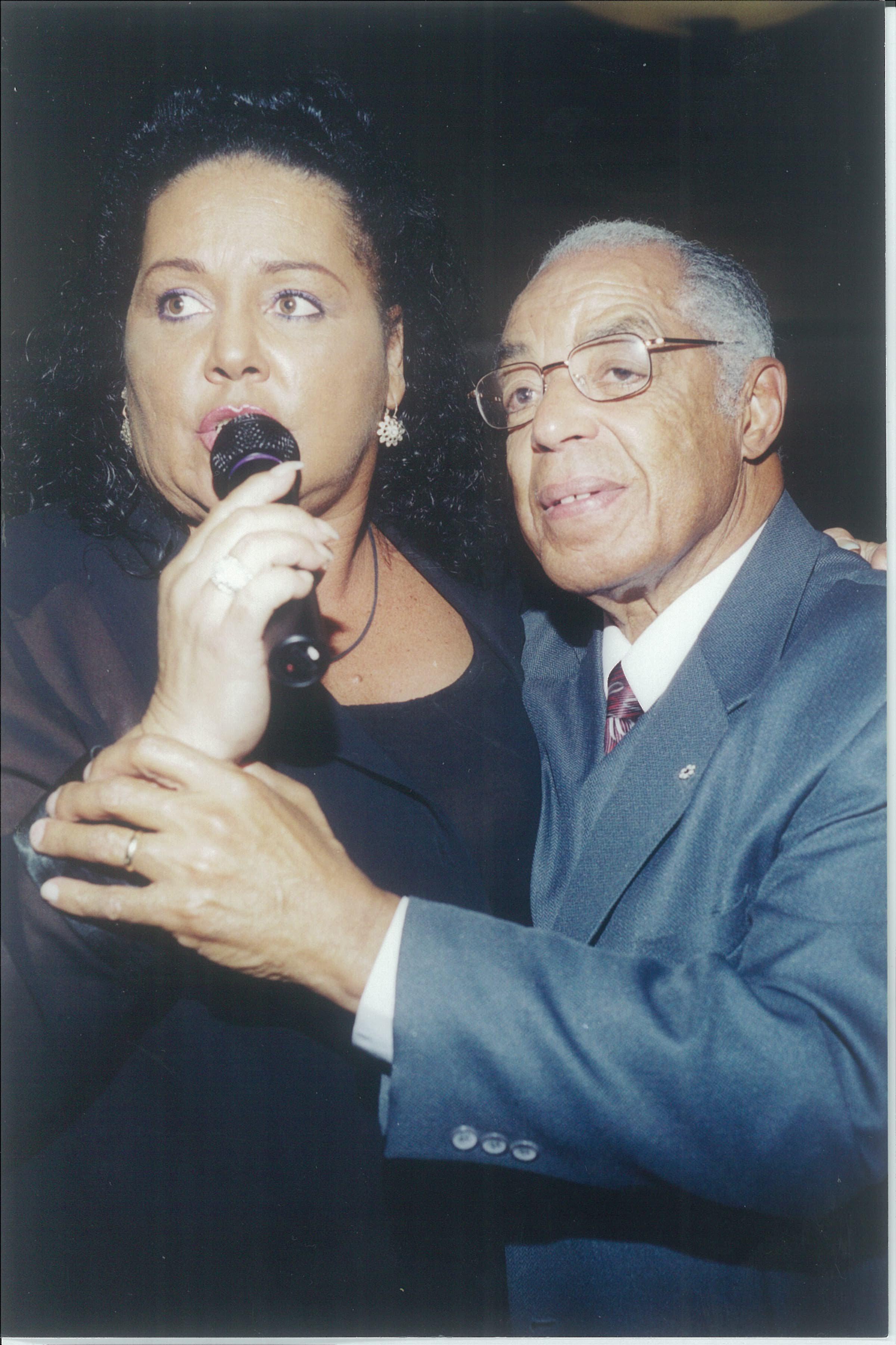 Award-winning singer Liberty Silver serenades Bromley Armstrong at a community event