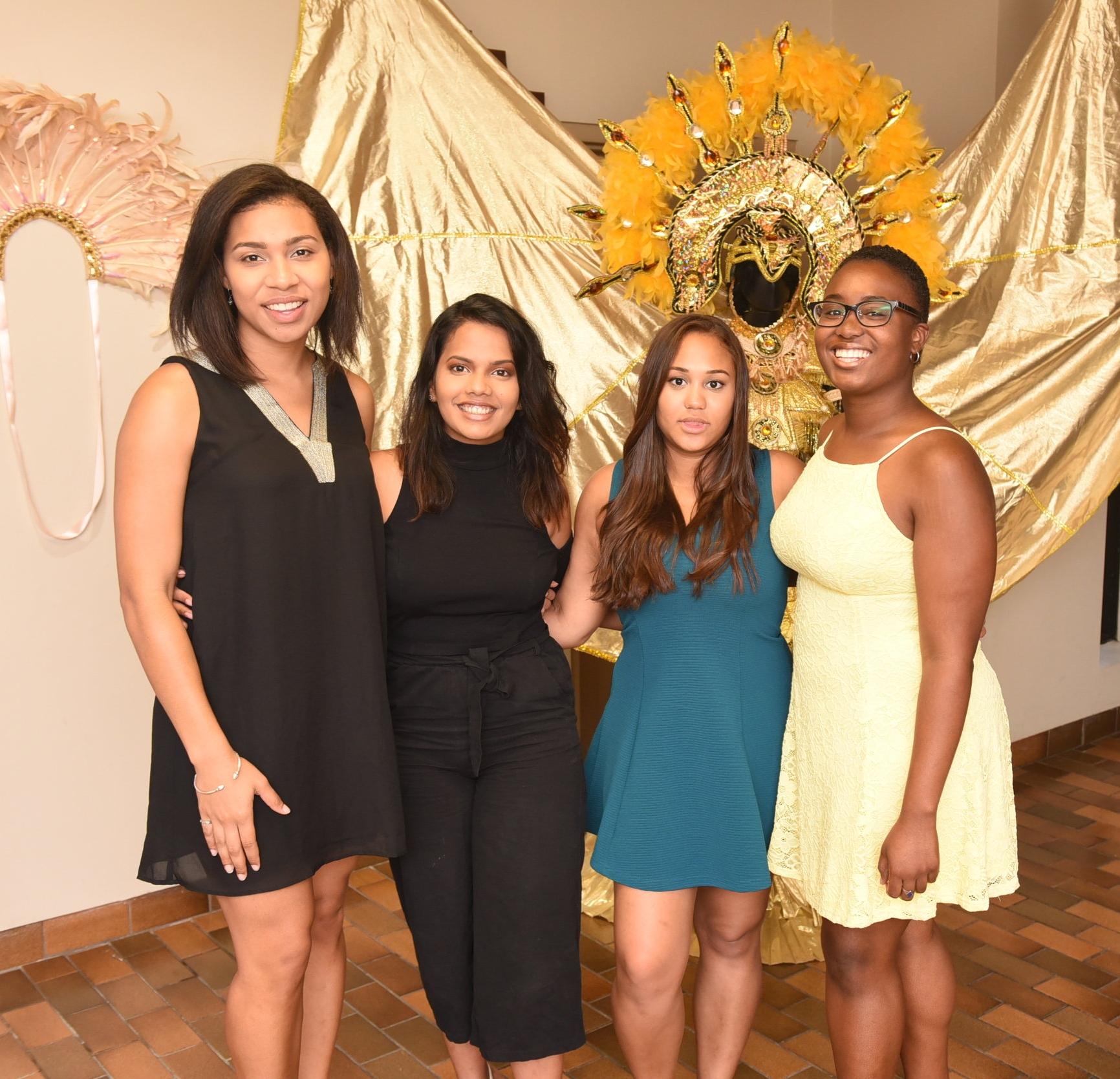 Brock University Trinidadian students Alyssa Davis (l), Sophie Hassanali, Sabrina Hoford & Annamarie Hudlin