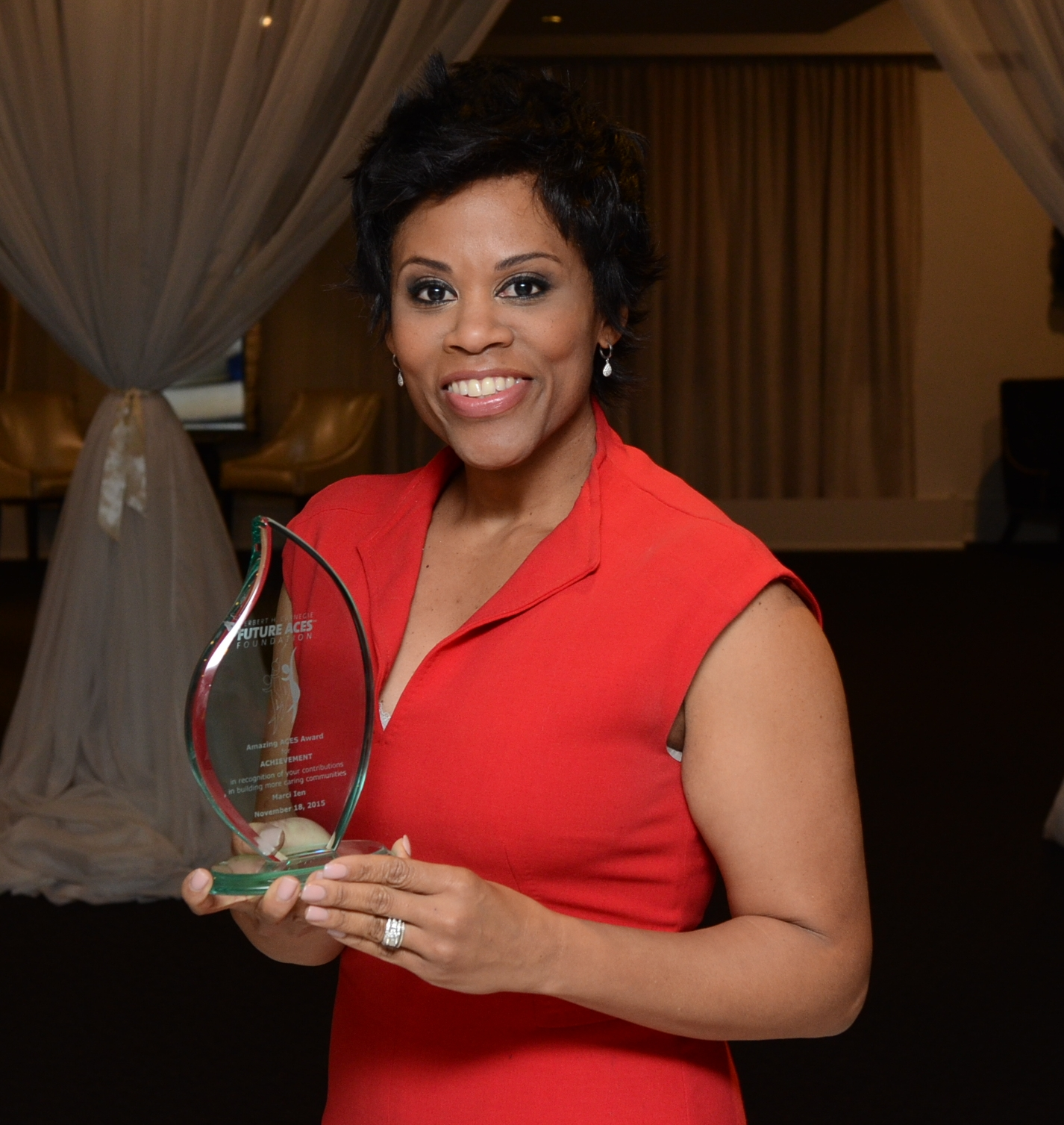 Marci Ien was presented with a Future Aces Award for journalism excellence