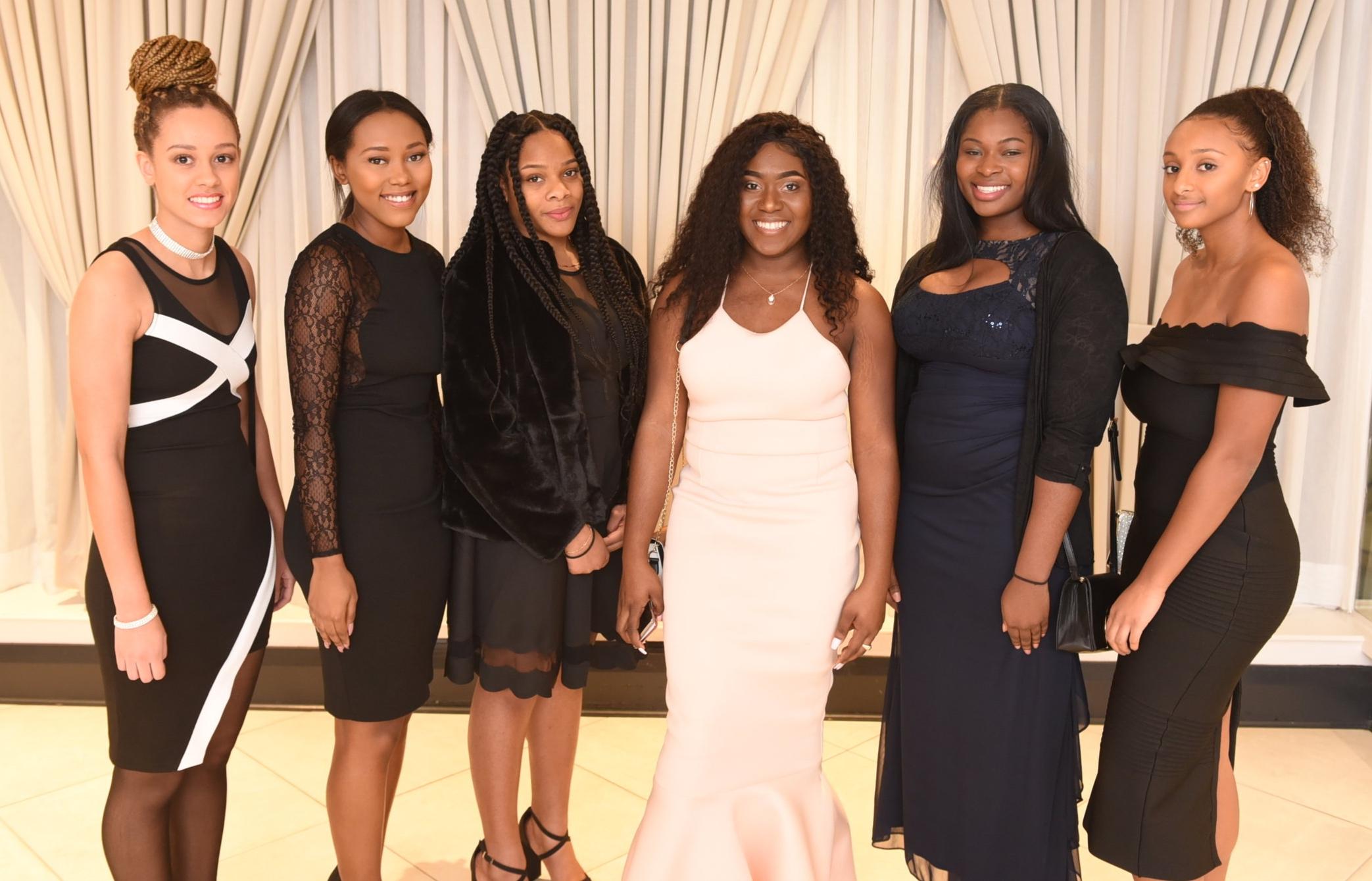 Kishana Smith (l), Talmiya Phillips, Shanel Tucker, Andrique White, Naomi Opia-Evans & Sara Minnot