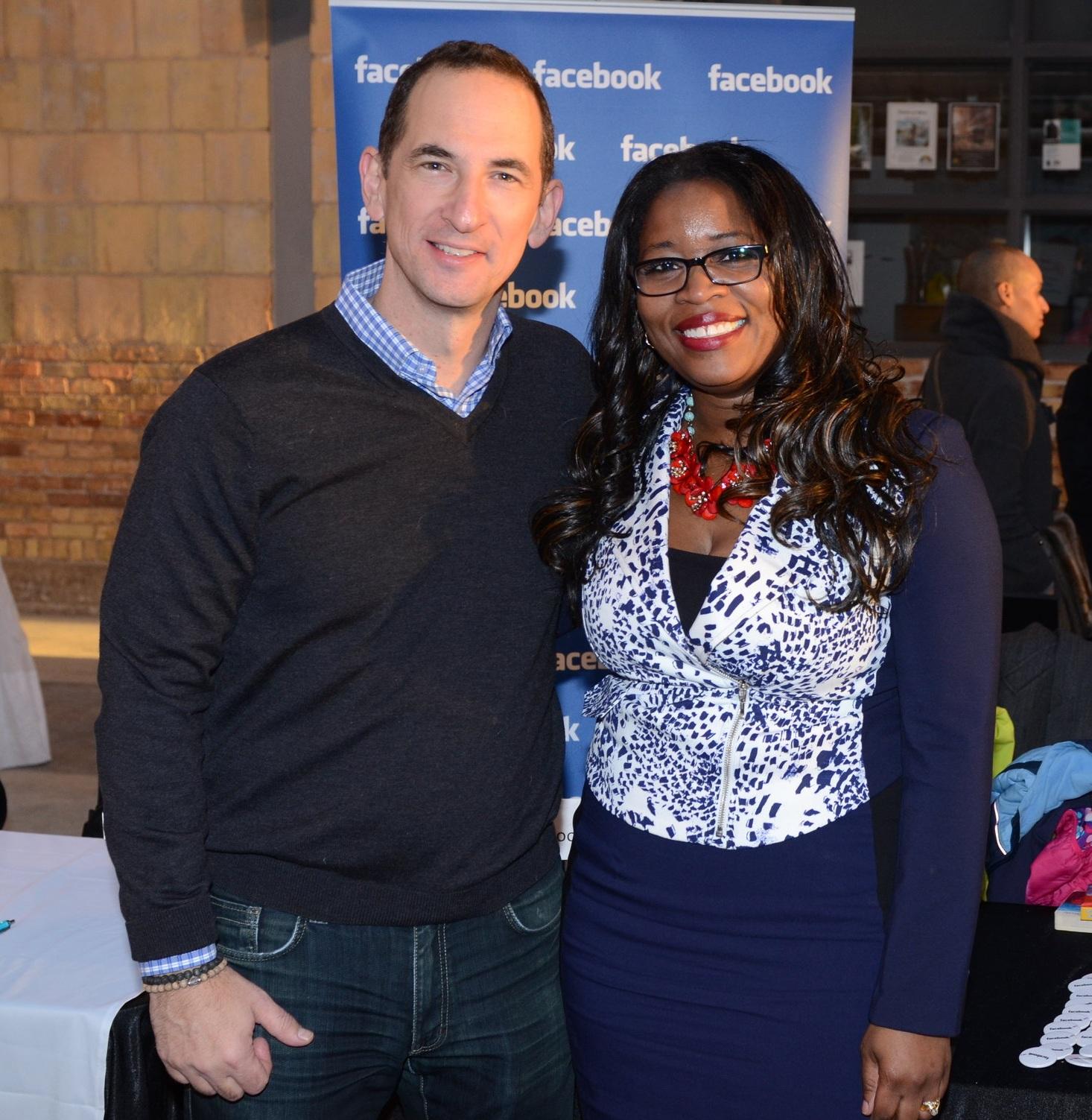 Claudette McGowan with Facebook Canada managing director & global head of vertical strategy Jordan Banks