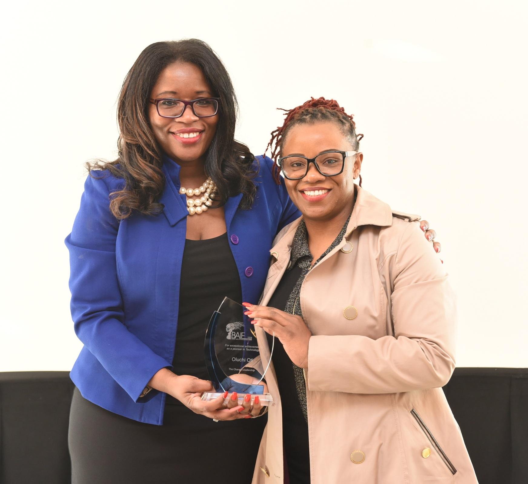 Claudette McGowan (l) and BMO Financial Group senior consultant Oluchi Oti