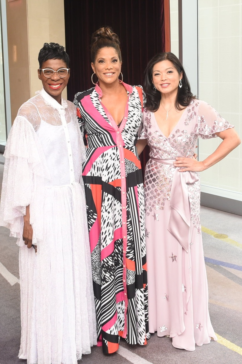 UWI chief fundraiser Elizabeth Buchanan-Hind (c) flanked by event co-patron Brigitte Chang-Addorisio (r) and Jamaica Observer Lifestyle & Social Content senior associate editor Novia McDonald-Whyte