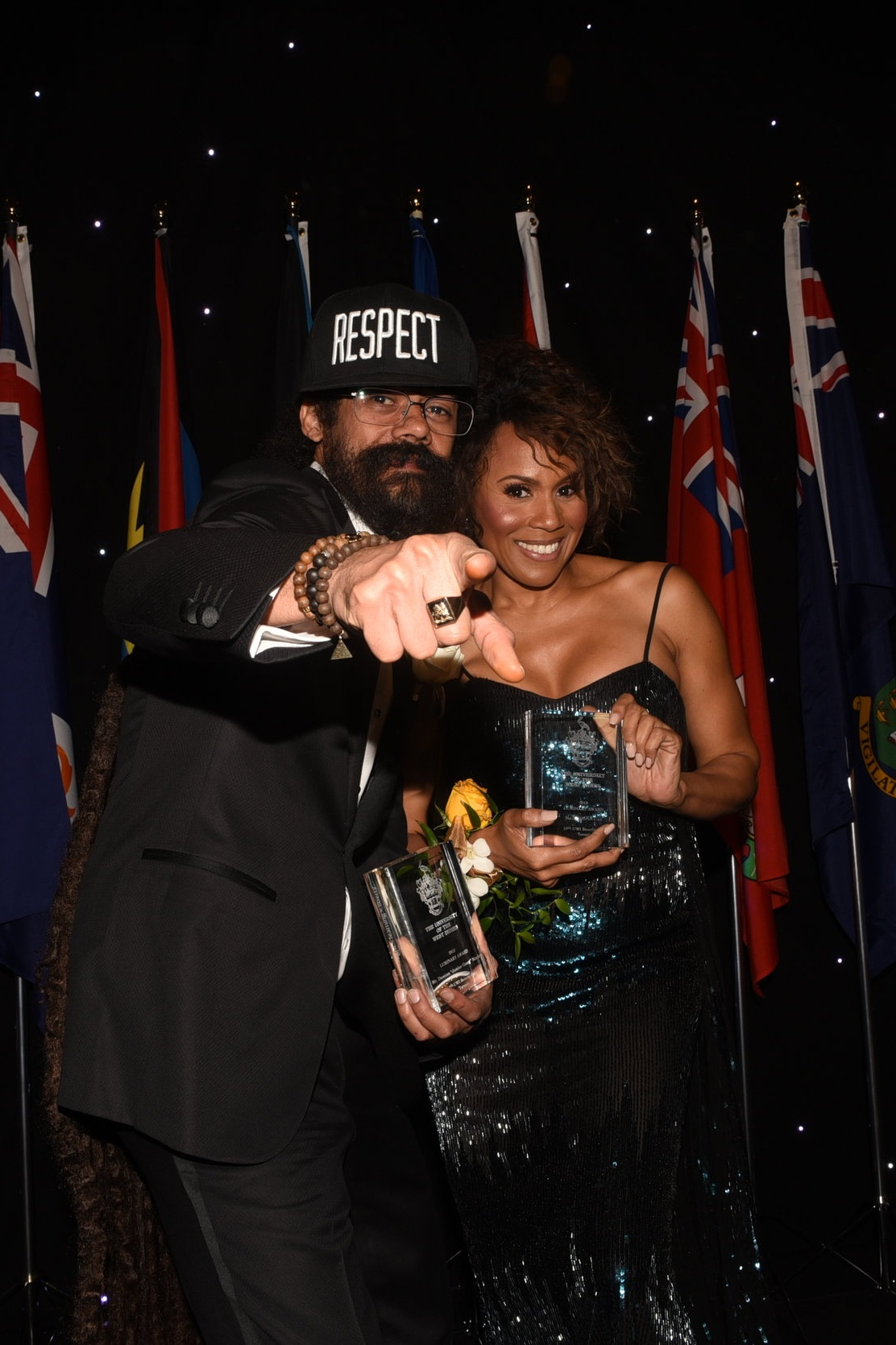 "Luminary Award winners Damian ""Junior Gong"" Marley and Deborah Cox"