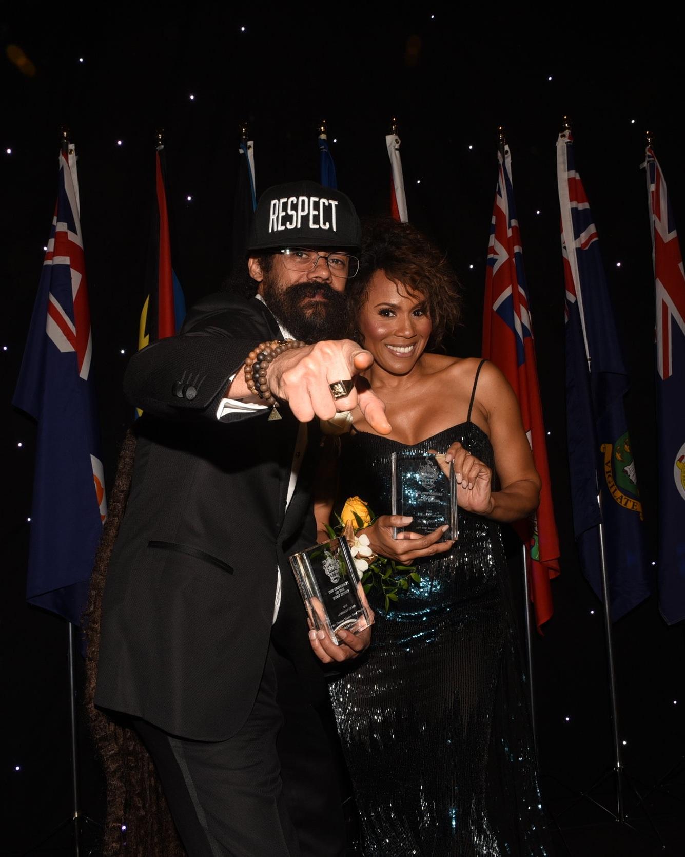 """Luminary Award winners Damian """"Junior Gong"""" Marley and Deborah Cox"""