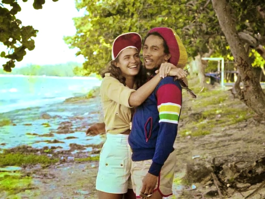 Cindy Breakspeare and the late Bob Marley