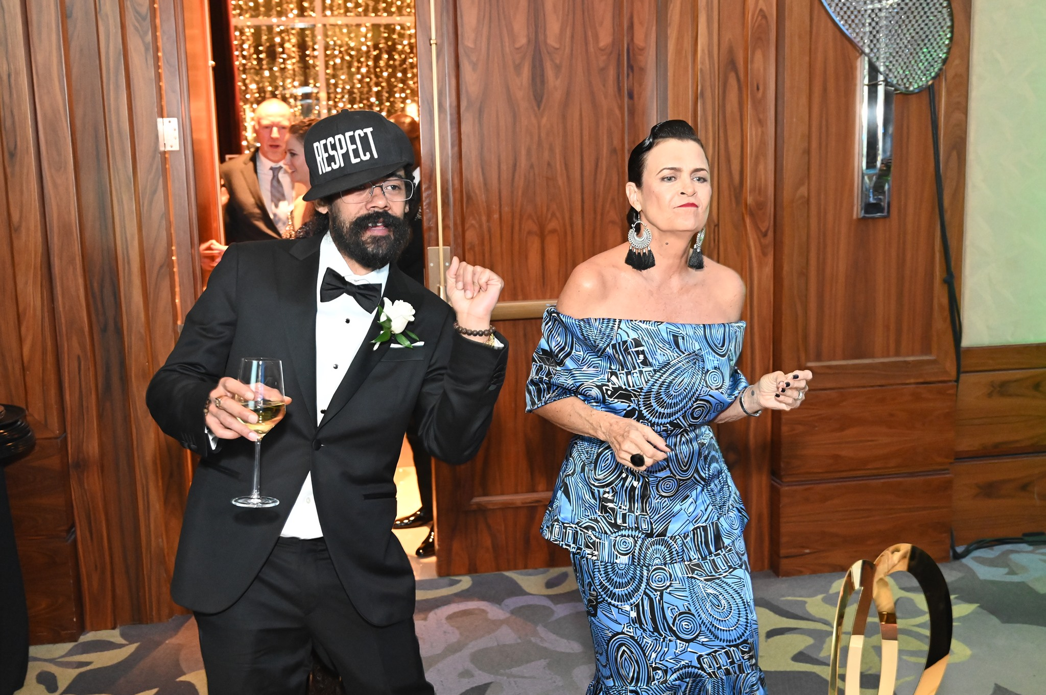 Cindy Breakspeare and her son Damian Marley