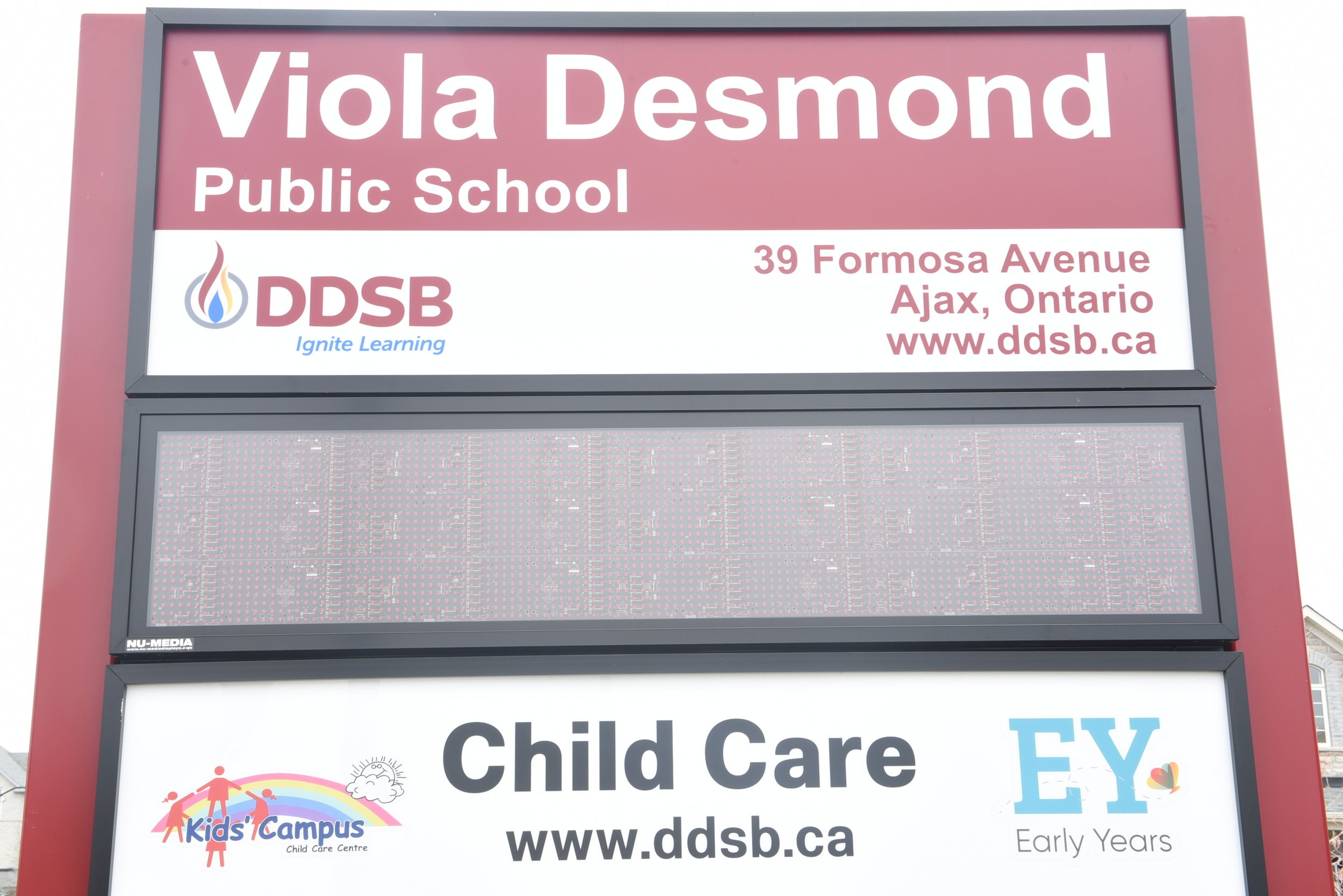 The Viola Desmond School in Ajax