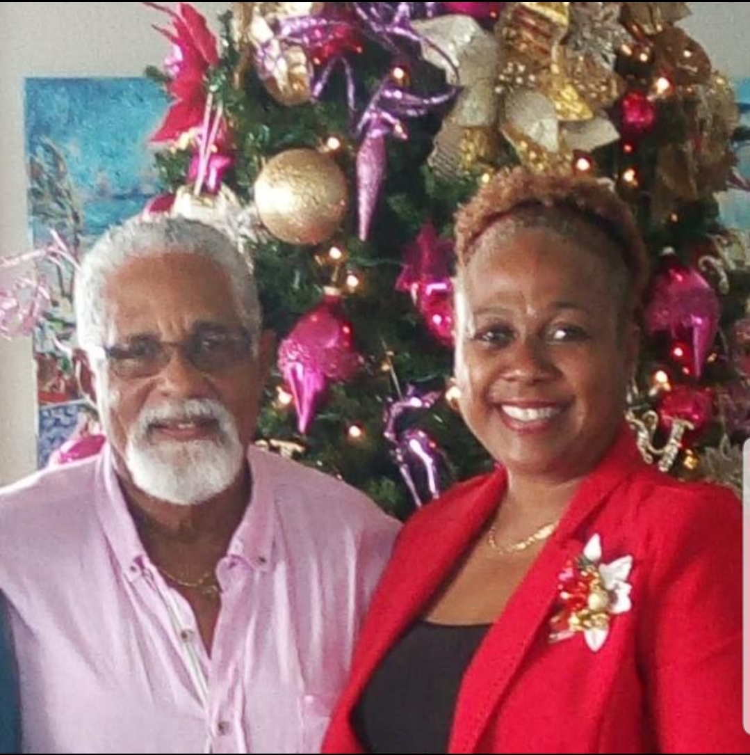 Sonia Marville-Carter with Hoyte just days before he suffered an aneurysm