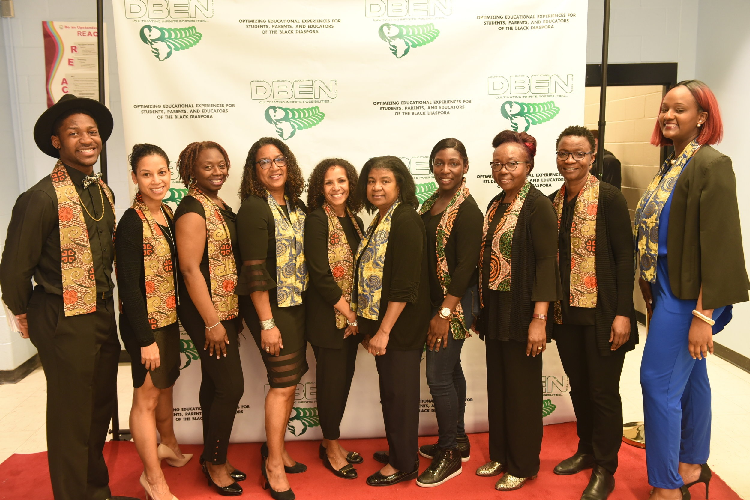 The DBEN Recognition Awards Organizing Committee members Lincoln Alexander-Estridge (l), Camille Prince, Shaundell Parris, Tracey Brissett-Grose, Jackie Leacock, Claudette McDonald, Kay-Ann Levy-Sundiata, Marilyn Sinclair, Michel Jackson-Stewart & Cristal Hines