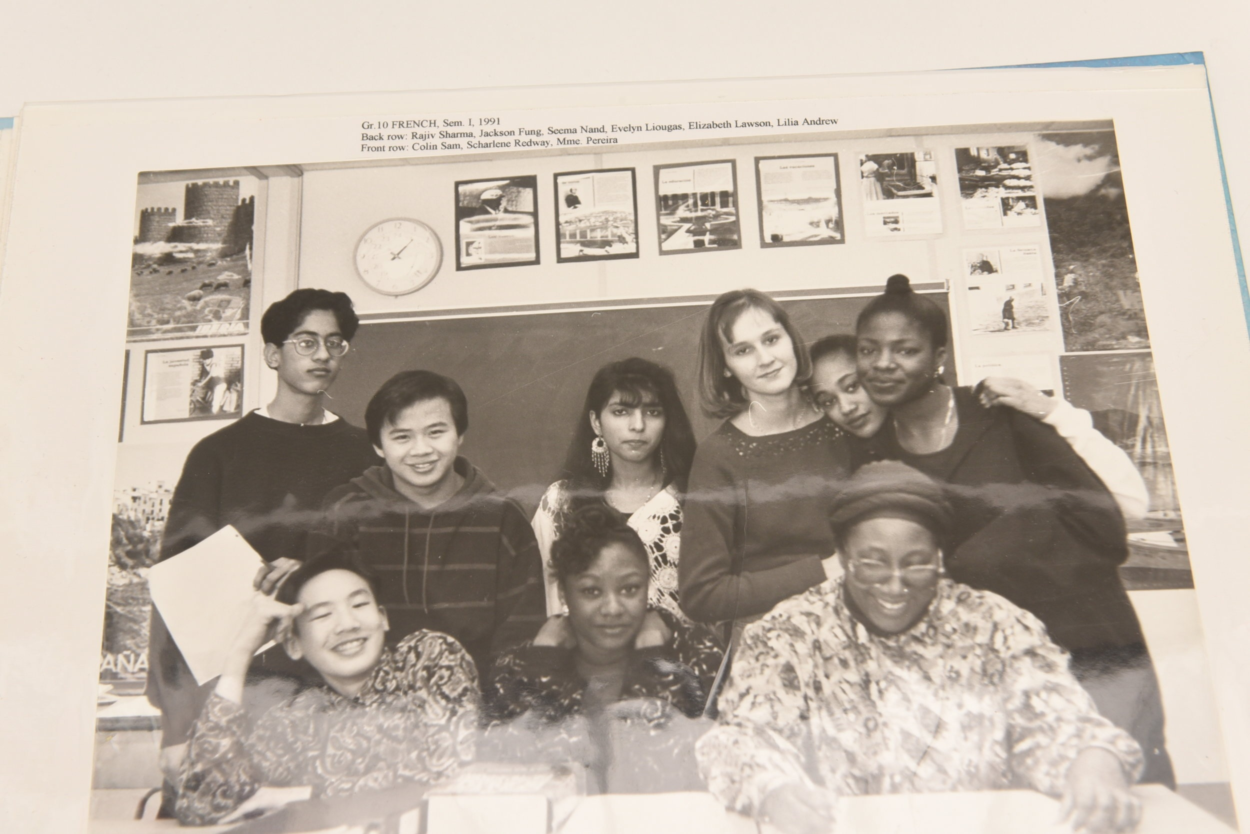 Elizabeth Pereira and some of her students in 1991