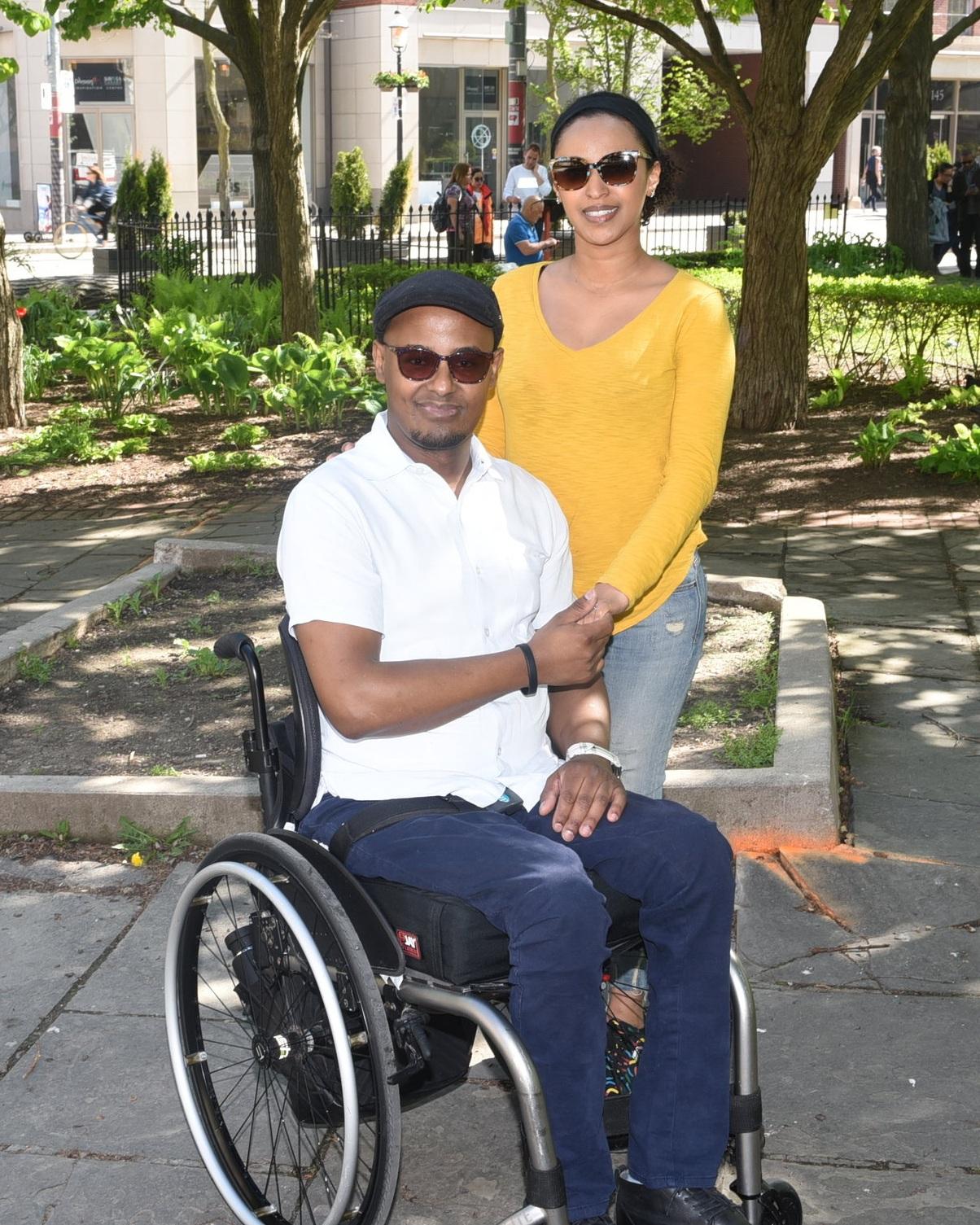 Amanuel Zermariam and his wife Misgana Teklesenbet