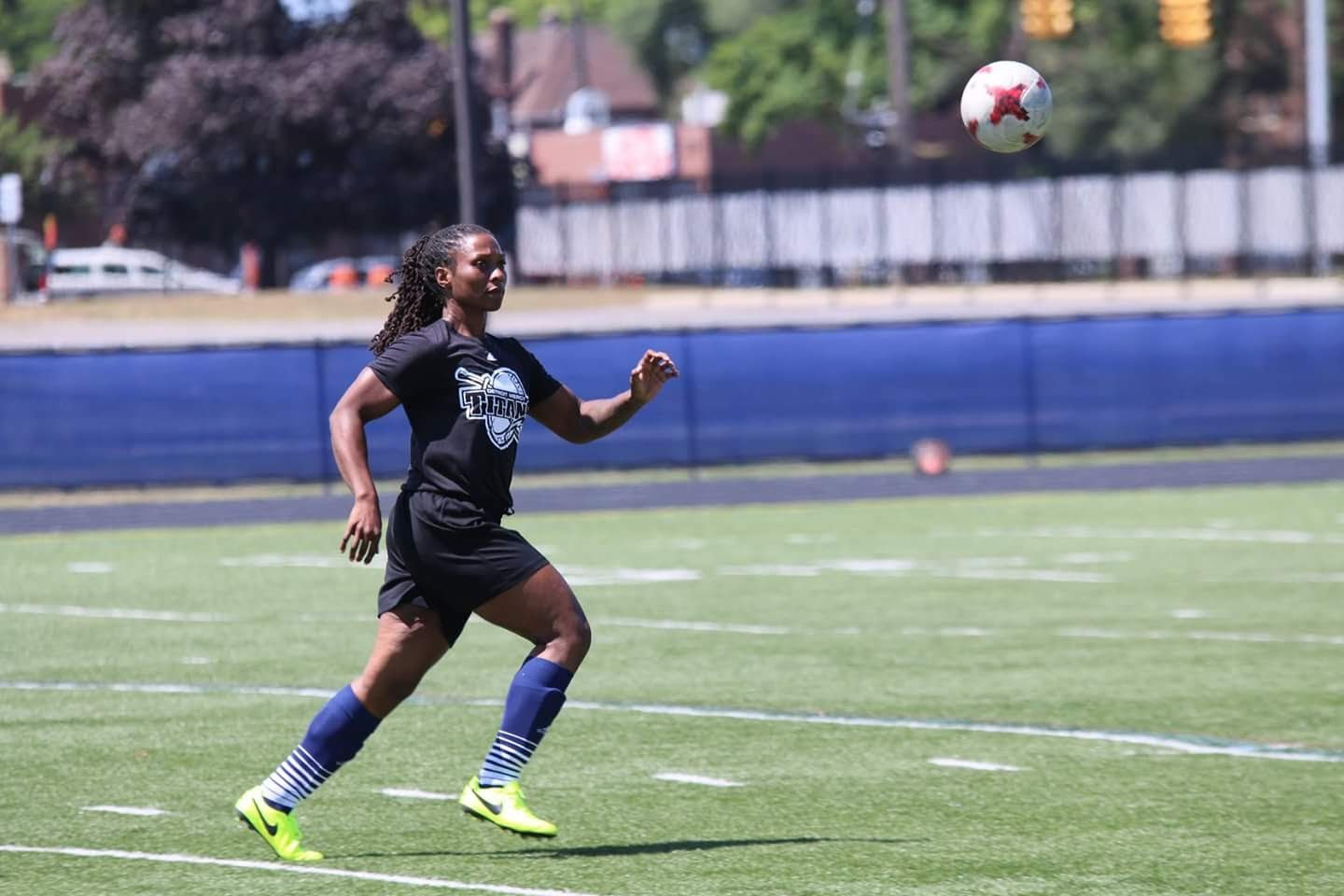 Nathalee Thompson attended the University of Detroit Mercy on a soccer scholarship