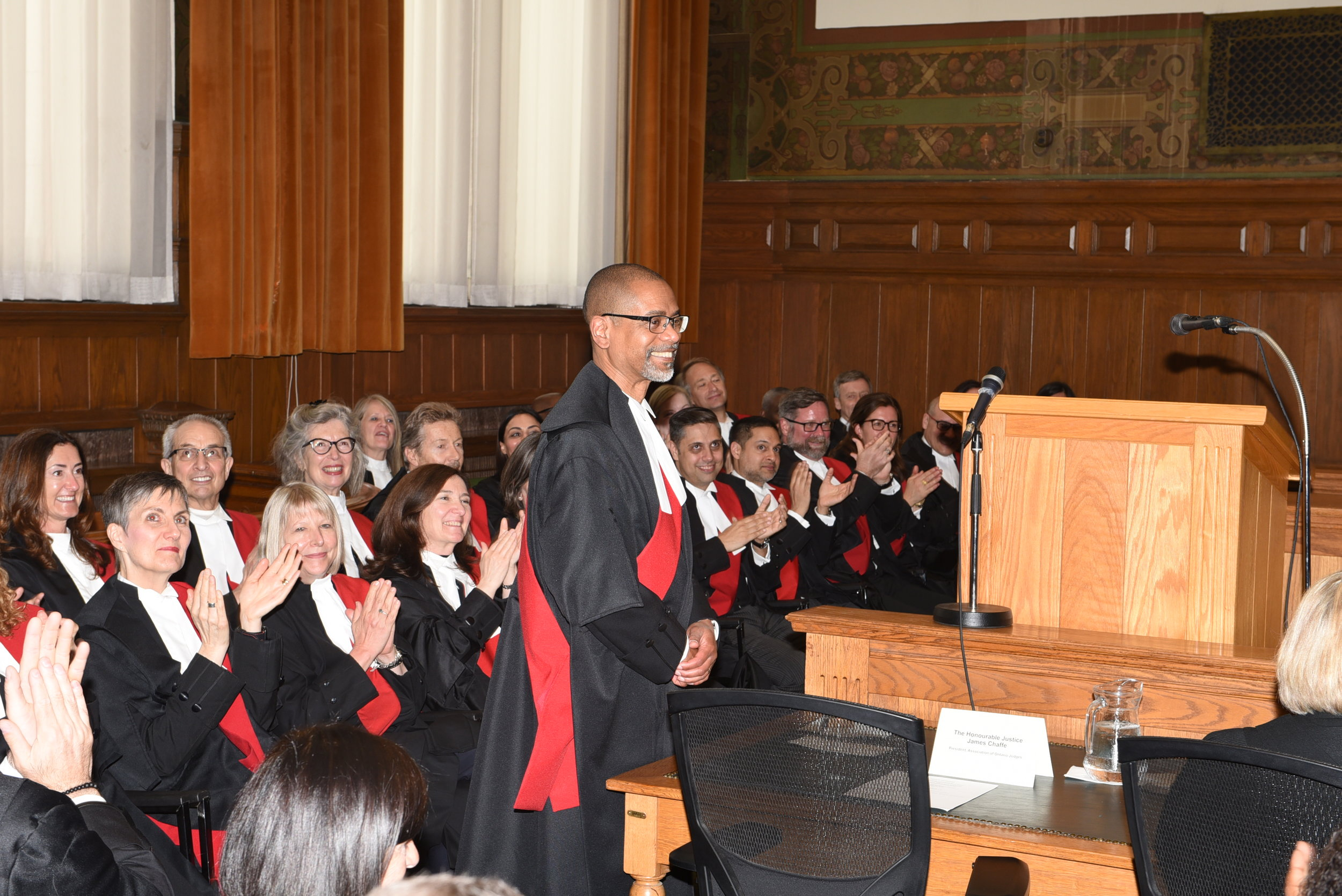 Justice David Maylor at his swearing-in ceremony