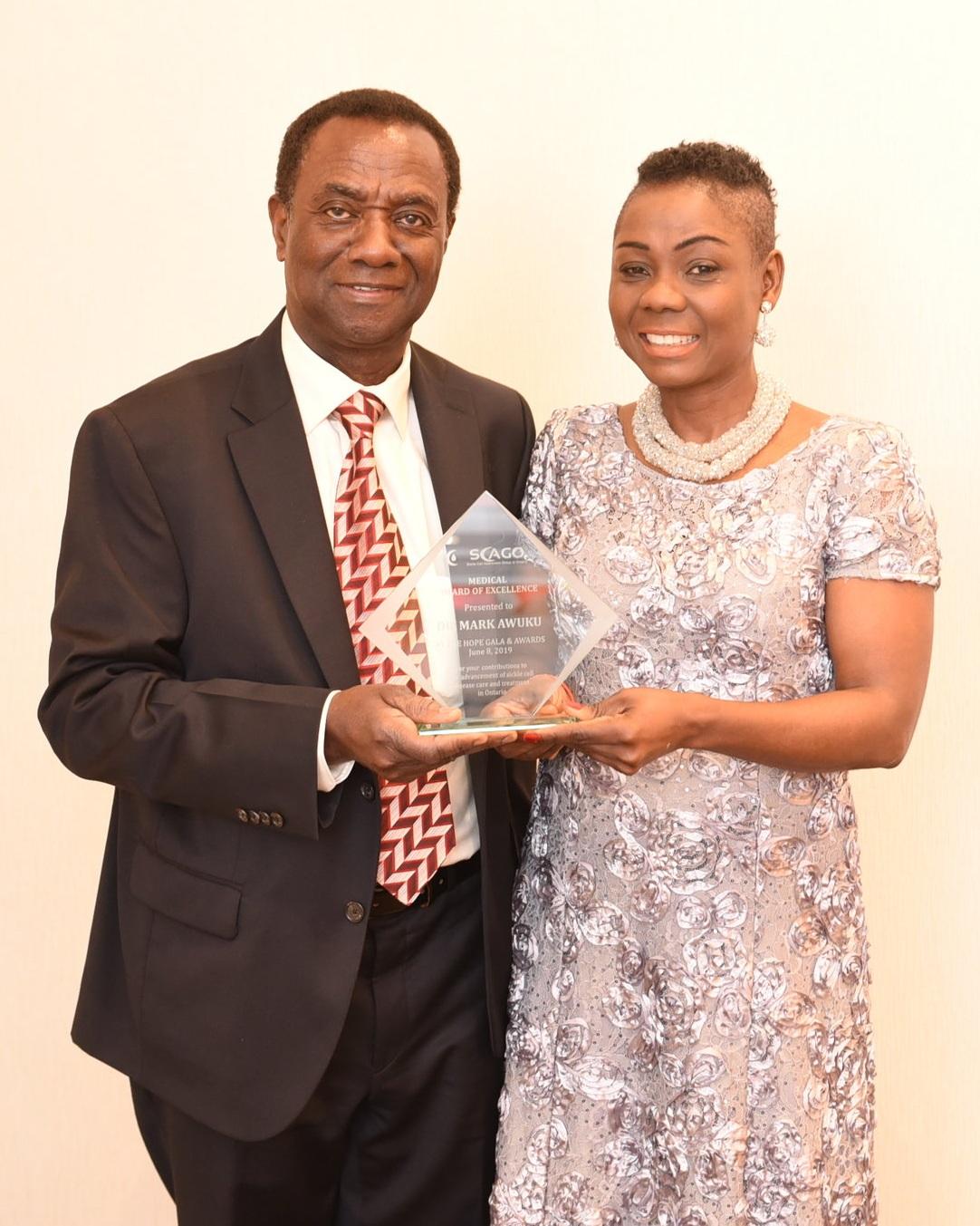 SCAGO founder Lanre Tunji-Ajayi with Dr. Mark Awuku