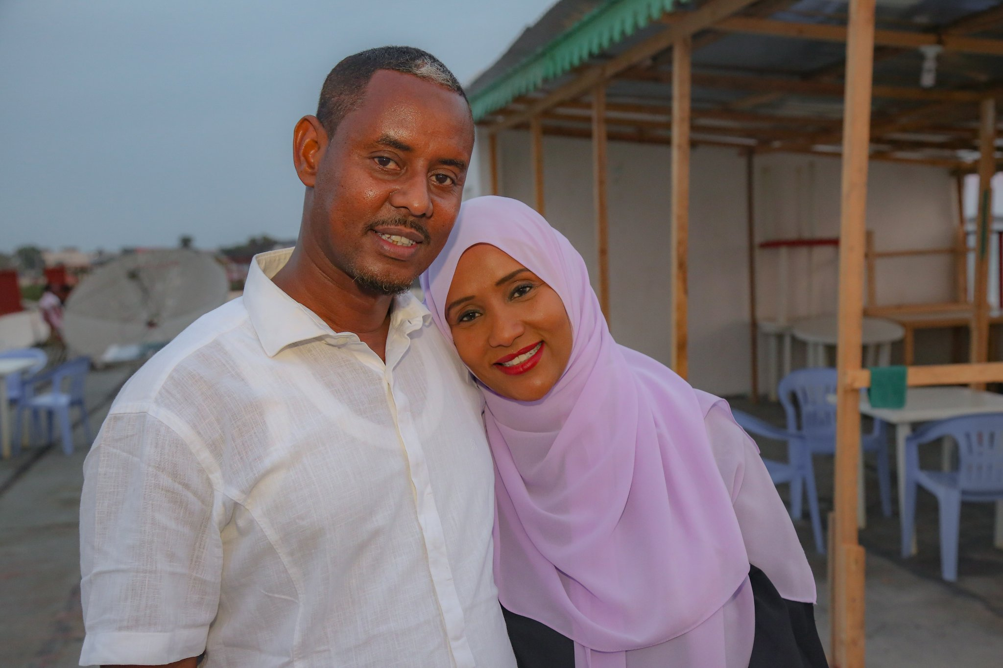 Hodan Nayaleh and her husband Farid Jama Suleiman
