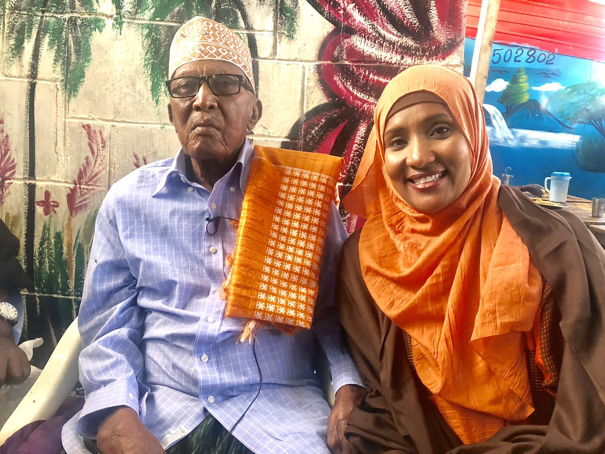 Hodan Nayaleh and her 97-year old uncle