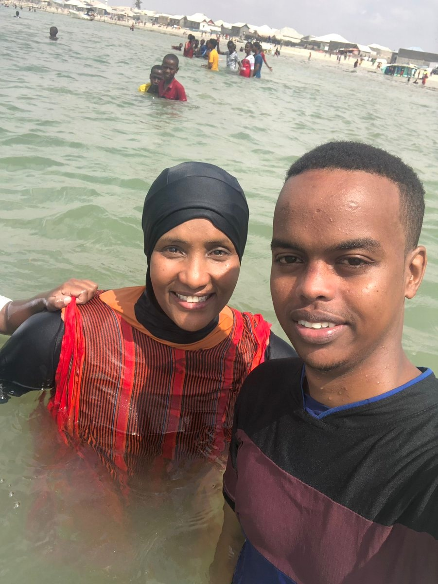Hodan Nayaleh swimming in Somalia
