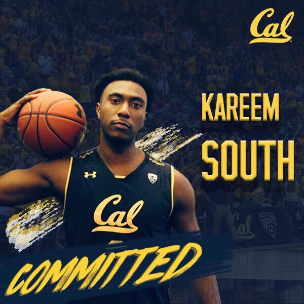 Kareem South will represent the University of California at Berkeley in 2019-20
