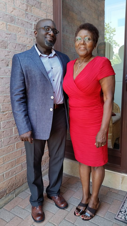 Barrington Walker with his mom Norma Walker