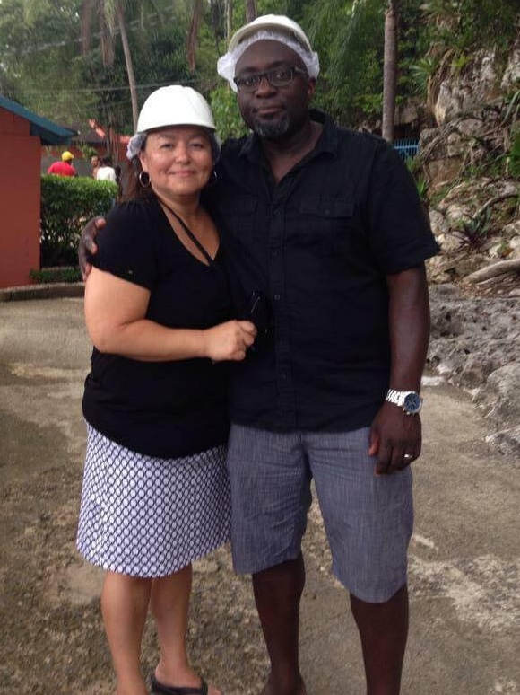 Barrington Walker with his wife Georgina Riel
