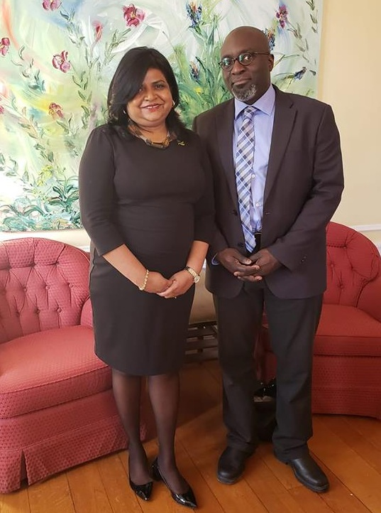 Barrington Walker & Jamaica's High Commissioner to Canada Janice Miller