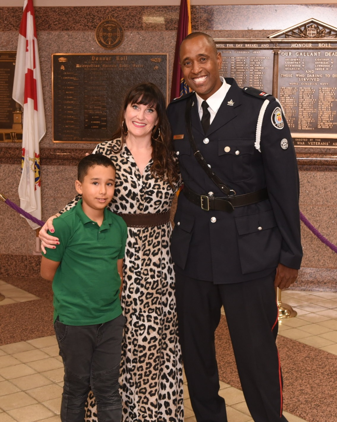 Const. Dale Swift with his wife Beth & their son Tristen