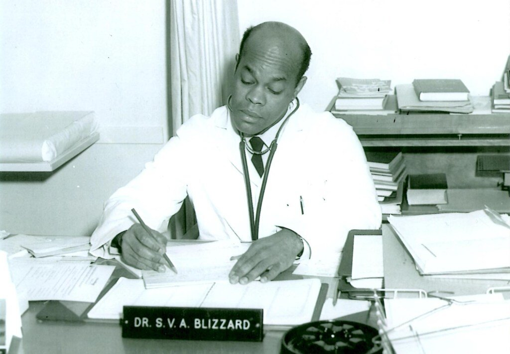 Dr. Stephen Blizzard at his desk