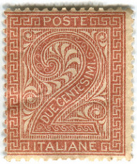 Gorgeous ornate design and I love how they used the value of the stamp as the focal point. (via  Dfiles )