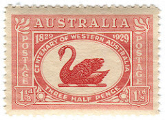 This elegant stamp is very well balanced. (via  Collectors Club of Great Britain )